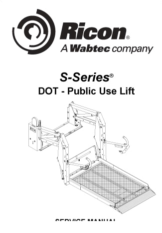 ricon s series dot public use wheelchair lift service manual 0 jpg