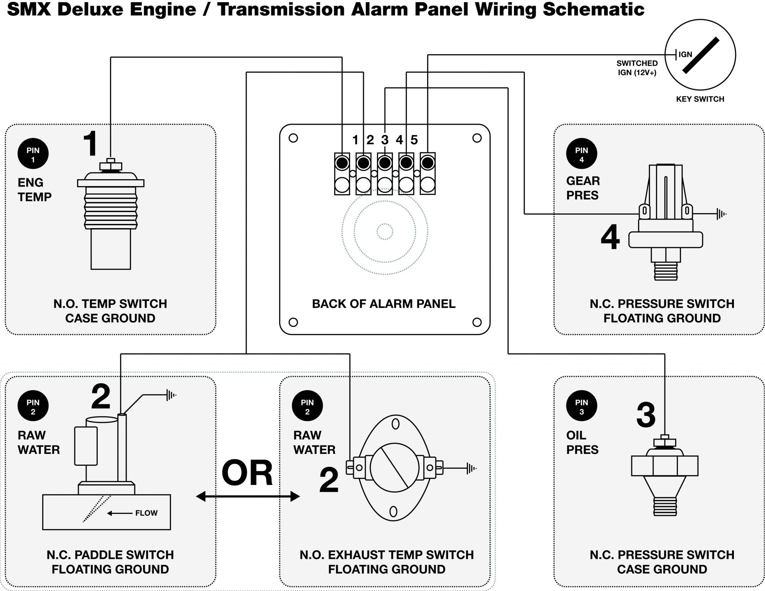 smx deluxe engine transmission alarm panel wiring jpg