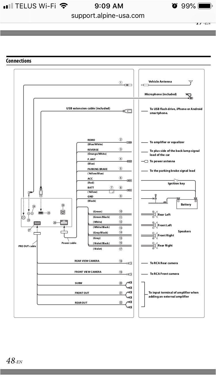 Alpine Ilx W650 Wiring Diagram Alpine Radio Diagram Wiring Diagram
