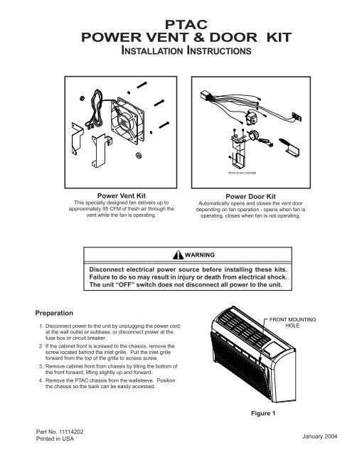 ptac power vent amp door kit amana ptac jpg