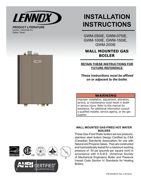 gwm ie boiler installation manual lennox jpg