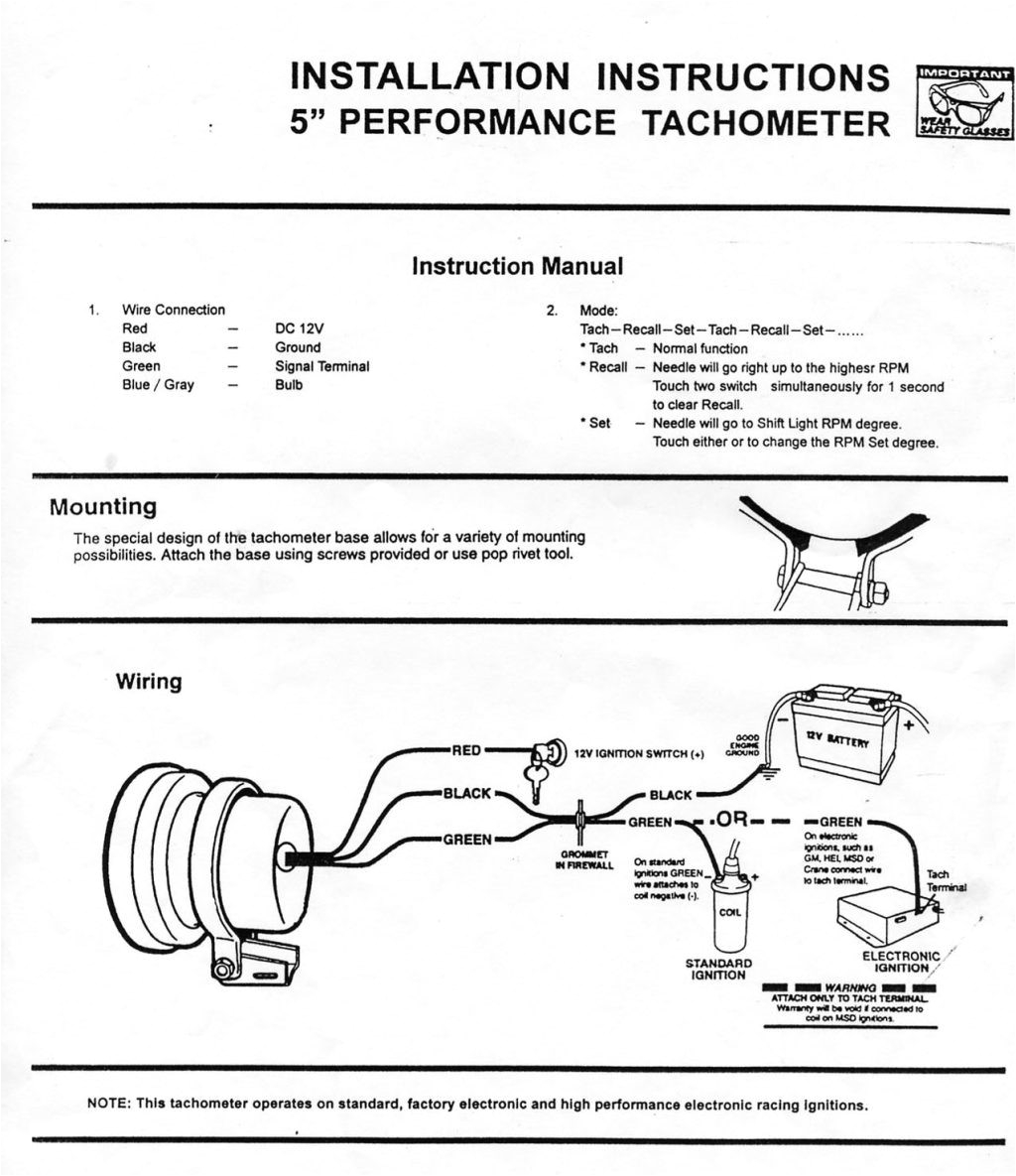 pro comp lightring diagram electronic ignition pc cdi equus tach at wiring pro comp tachometer wiring jpg