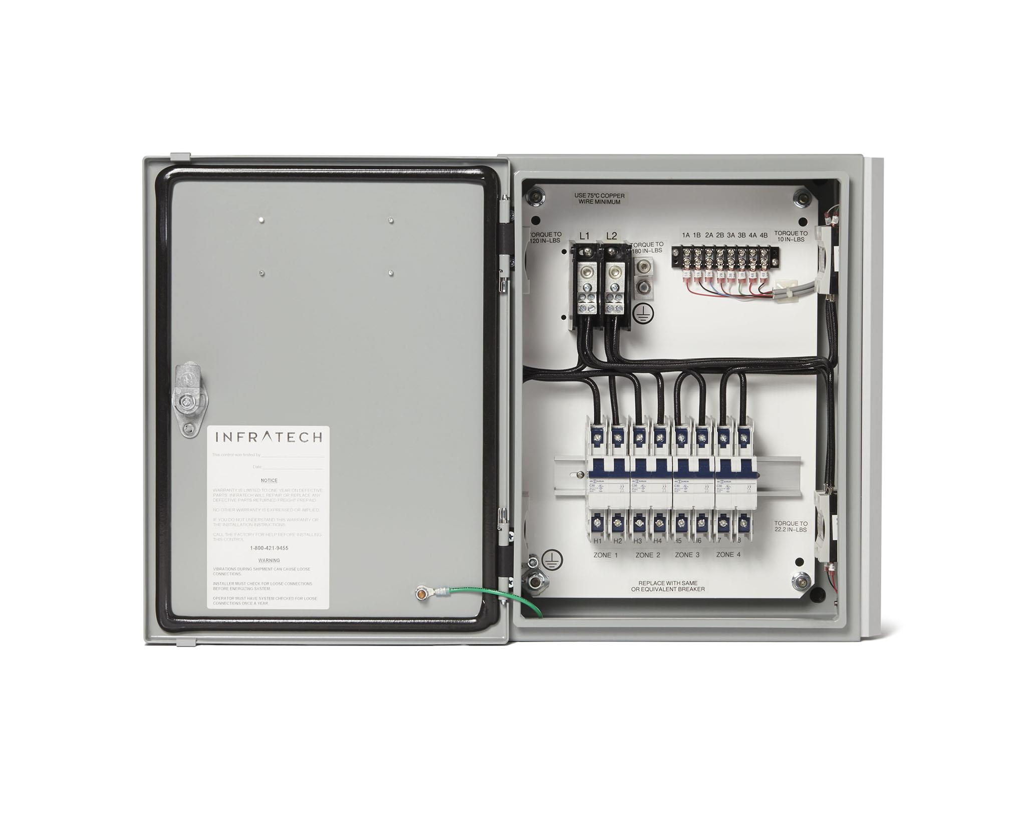 Infratech Heater Wiring Diagram Infratech 5 Relay Panel for Electric Heater 30 4055