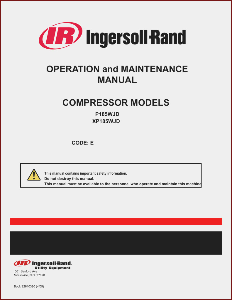 ingersoll rand manuals pdf of ingersoll rand manuals pdf jpg