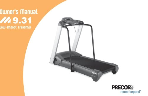 m931 treadmill owners manual 11 2004 precor jpg