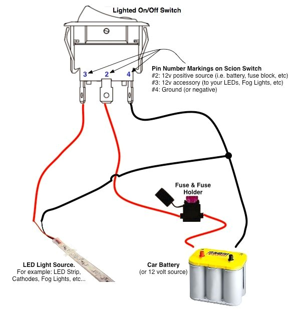 12v On Off On toggle Switch Wiring Diagram On Off Switch Led Rocker Switch Wiring Diagrams with