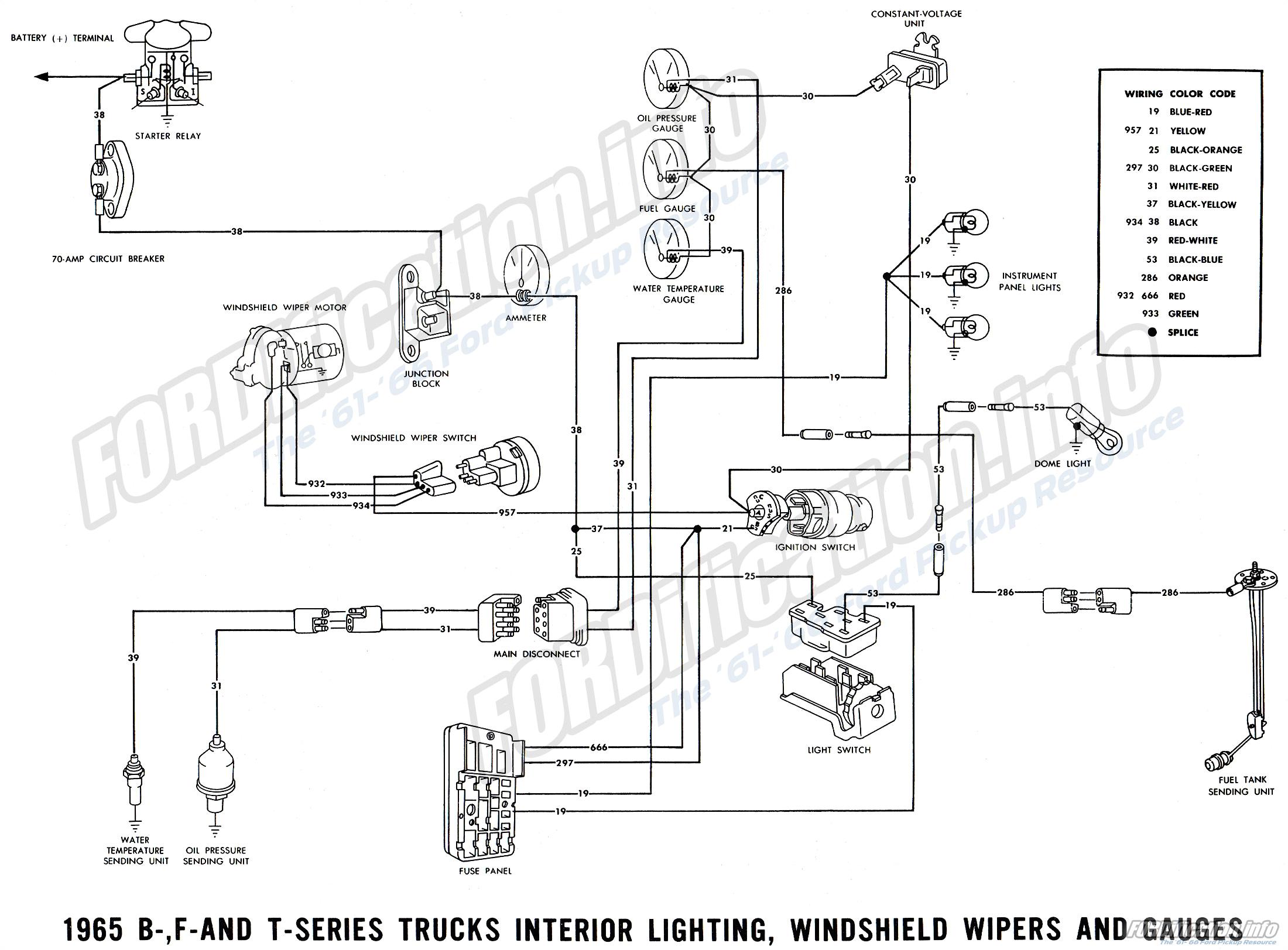1965 ford F100 Alternator Wiring Diagram Wrg 5324 65 ford F100 Wiring Diagrams Truck
