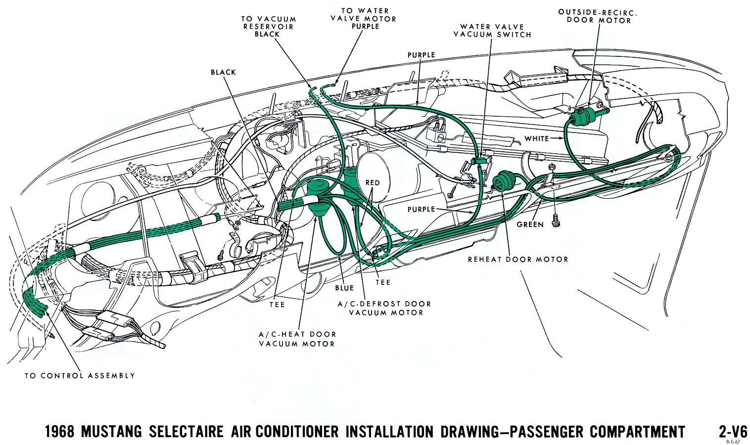 1968 mustang vacuum diagram air conditioning interior jpg