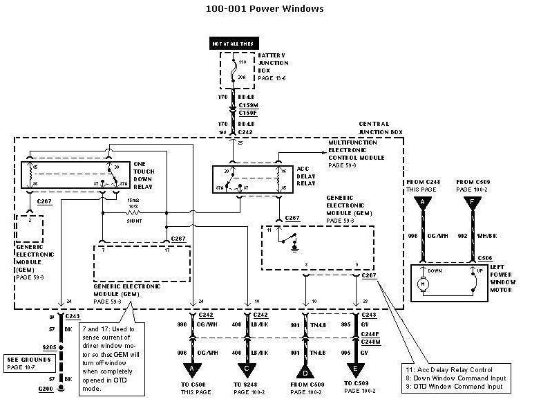1997 ford F150 Power Window Wiring Diagram ford F 150 Lighting Diagram Wiring Diagram