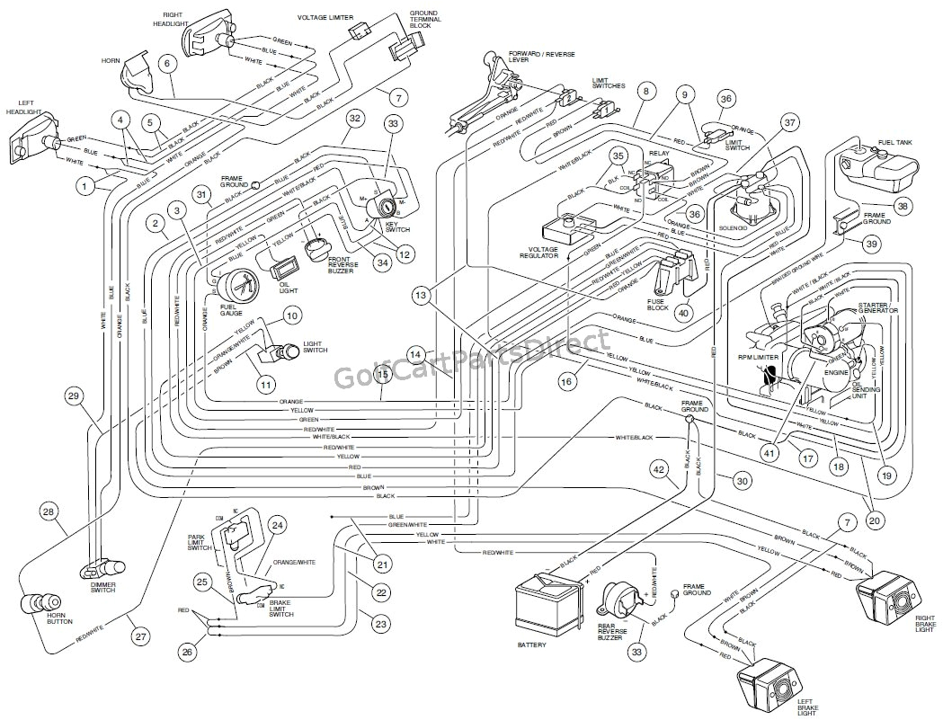 1998 Club Car Wiring Diagram 48 Volt