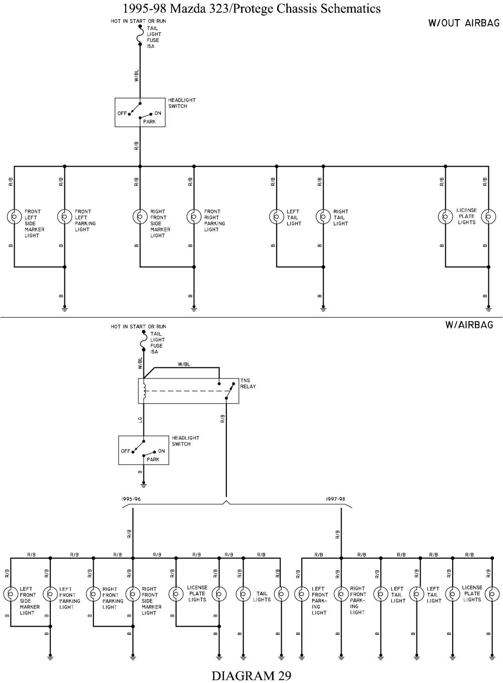 1999 Mazda Protege Wiring Diagram C9bd0 98 Mazda Protege Wiring Diagram Wiring Library