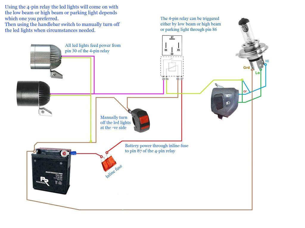 2 Pin Switch Wiring Diagram Images Motorcycle Led Headlight Wiring Diagram Wiring