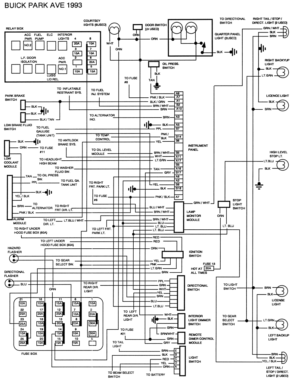 2000 Buick Century Fuel Pump Wiring Diagram 8c5da Electric Mirror Switch Wiring Diagram Buick Wiring