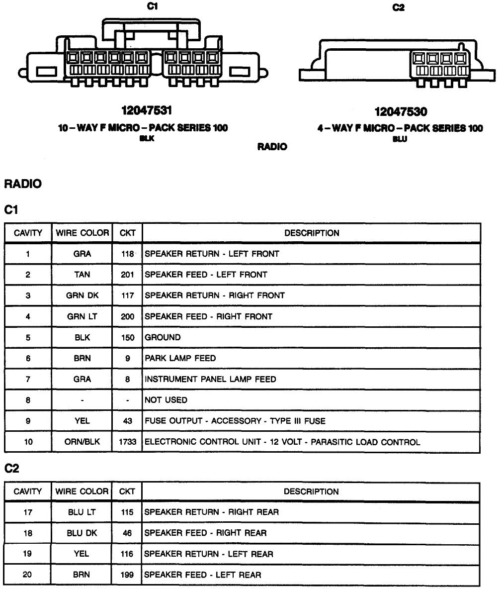 2000 Pontiac Sunfire Radio Wiring Diagram 98 Sunfire Wiring Diagram Wiring Diagram Schematic