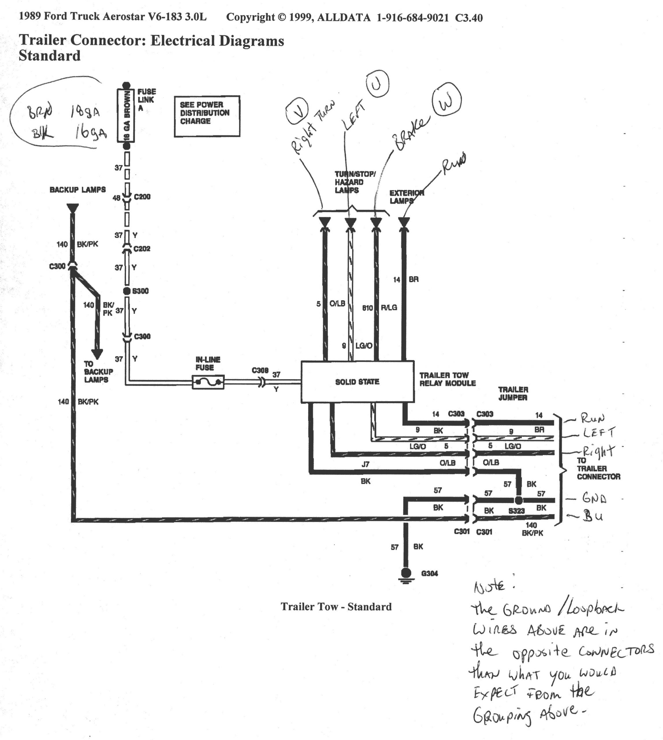 2001 F350 Tail Light Wiring Diagram