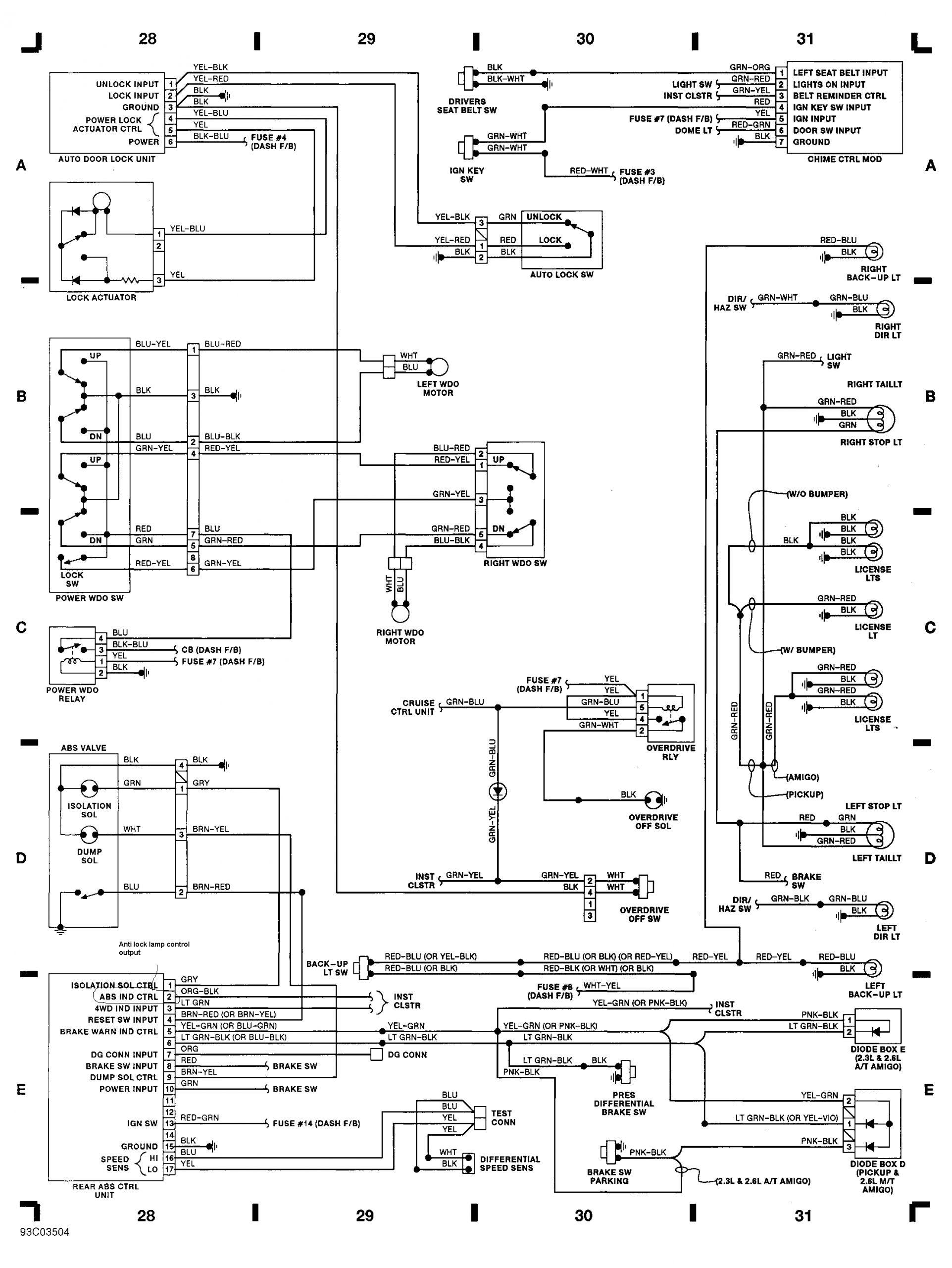 2001 isuzu Rodeo Wiring Diagram 95 isuzu Trooper Engine Diagram Wiring Library