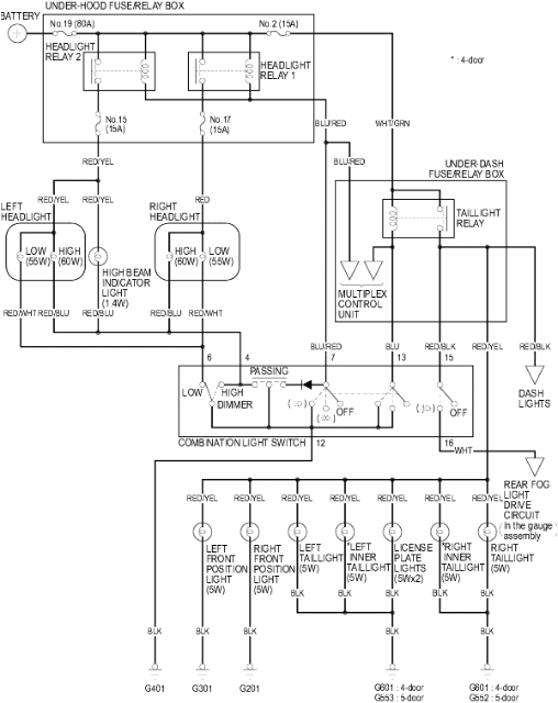 2002 Honda Civic Headlight Wiring Diagram 2001 Civic Lx with No Low Beam Headlights Honda Civic forum