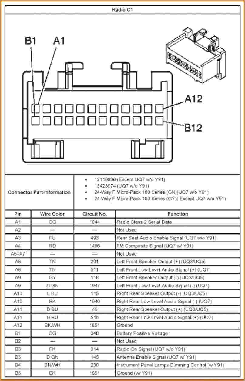 2003 Chevy Silverado Bose Radio Wiring Diagram 2008 Chevrolet Trailblazer Radio Wiring Diagram Blog