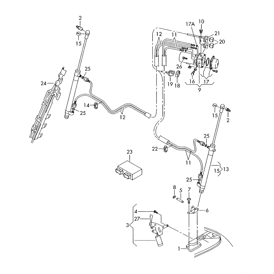 2003 Volkswagen Beetle Wiring Diagram Vw Beetle Cabrio Hydraulische Dach Motor Und Pumpenanlage 2003 2011 1y0871789b or 1y0871791a