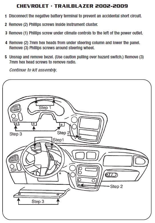 2004 chevrolet trailblazer installation parts harness wires kits jpg