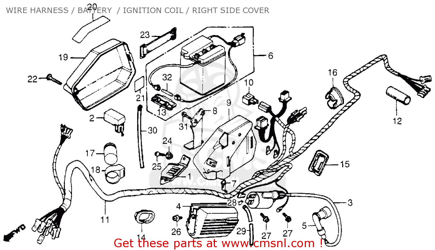 honda nc50 express 1983 d usa wire harnessbattery ignition coilright side cover bighu0147f6c17 4669 gif