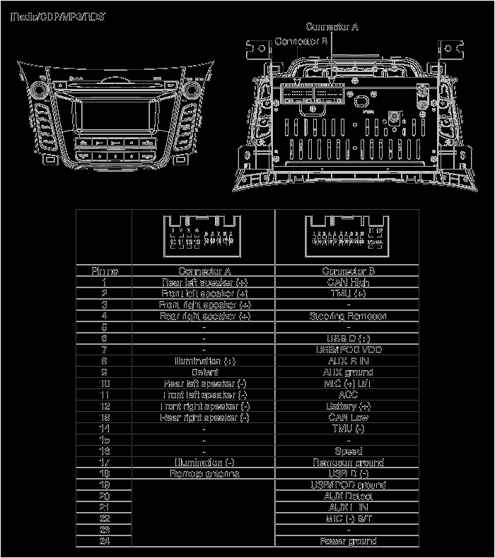 2007 Hyundai Accent Radio Wiring Diagram Sa 5173 Hyundai Air Conditioner Wiring Diagram Schematic Wiring