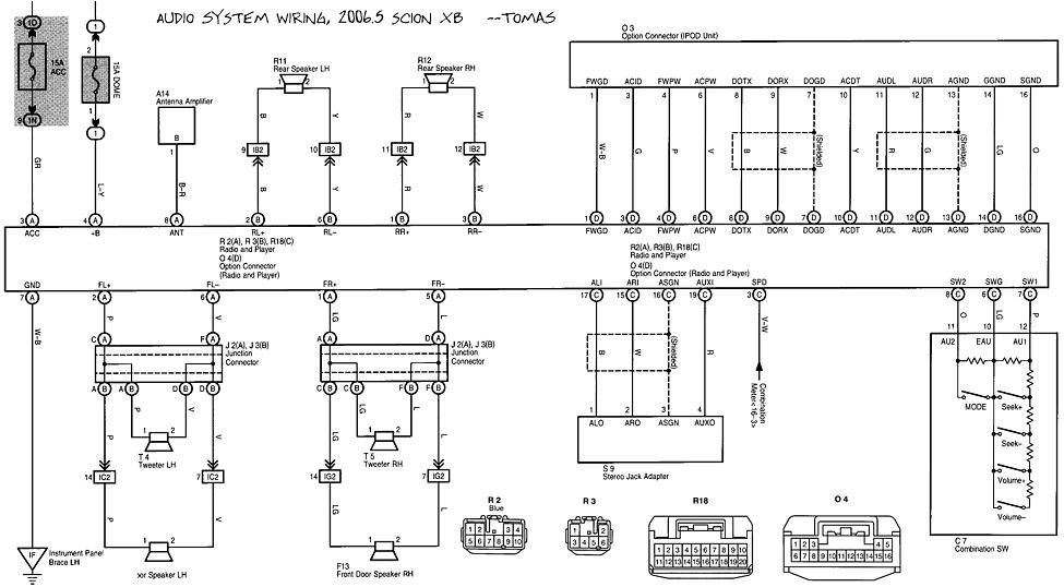 2006 scion xb wiring diagram parts wiring diagram gif