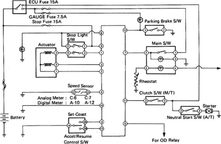 2007 toyota Tacoma Wiring Diagram toyota Cruise Control Diagram Blog Wiring Diagram