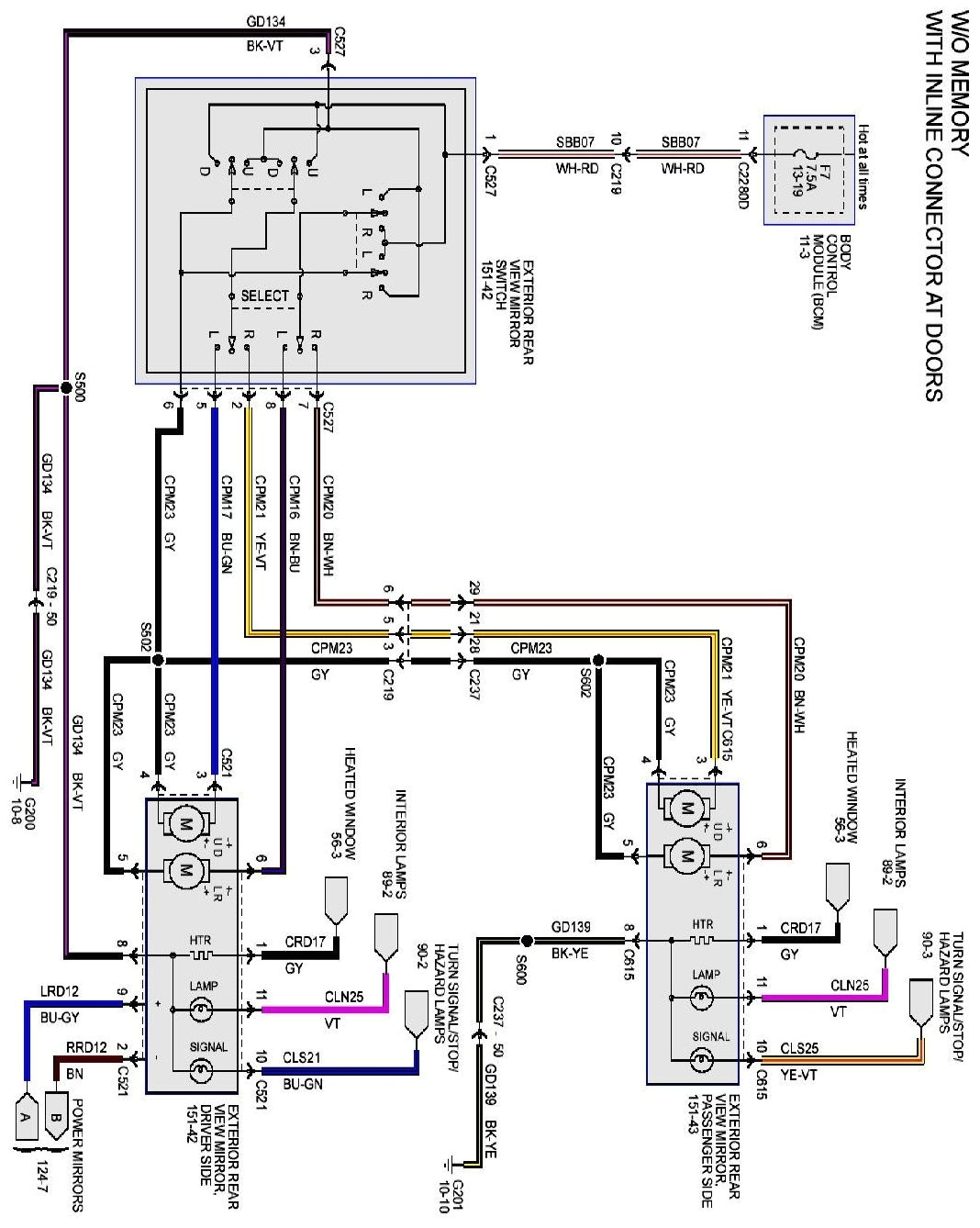 power mirror switch wiring diagram inspirational 2012 06 23 f150 1 2008 ford f250 mirror wiring diagram 4 of power mirror switch wiring diagram jpg