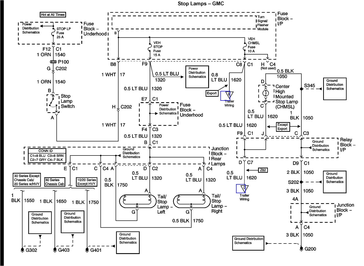 2009 Gmc Sierra Tail Light Wiring Diagram Gmc Headlight Switch Wiring Diagram Wiring Diagram