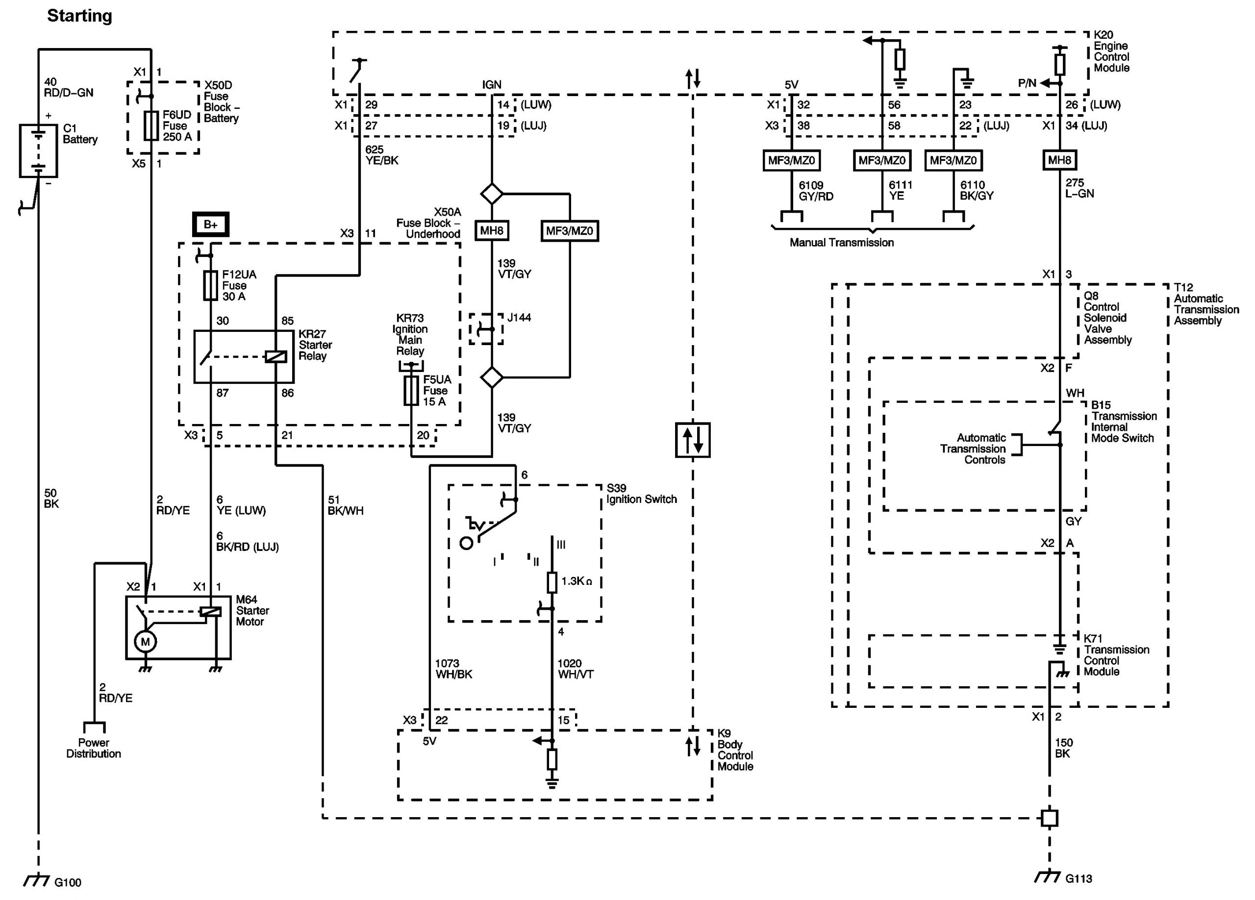 2012 chevy cruze starter wiring diagram png
