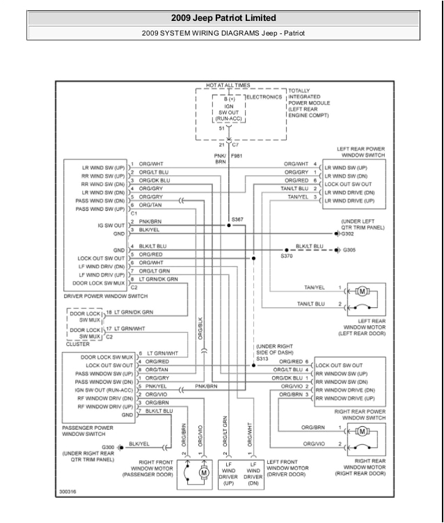 2011 Jeep Patriot Wiring Diagram Jeep Patriot Wiring Schematic Wiring Diagram