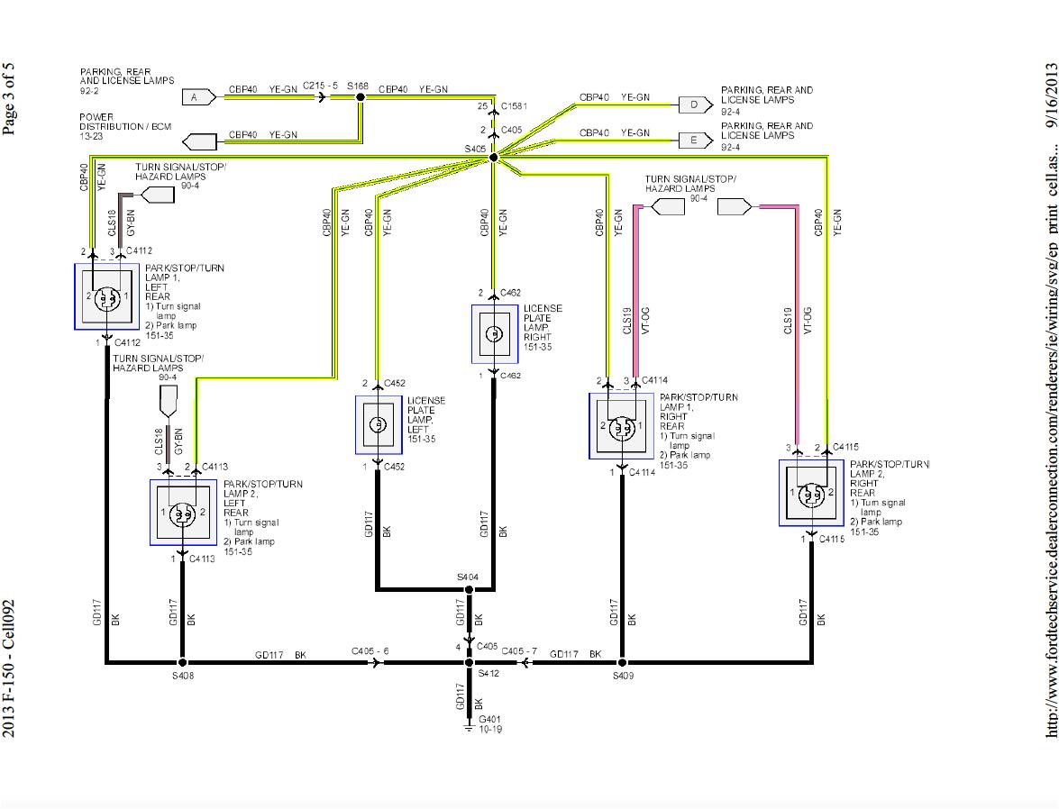 3 Wire Brake Light Diagram ford F 150 Lighting Diagram Wiring Diagram