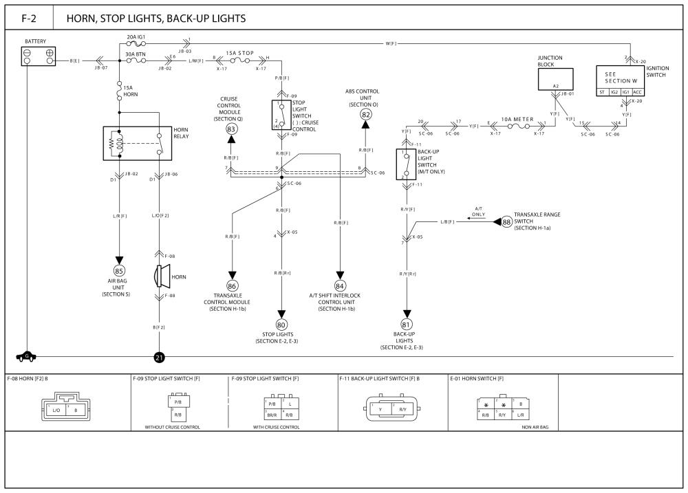 3 Wire Brake Light Diagram Kia Sephia Rio Spectra Optima 1998 2006 Wiring Diagrams