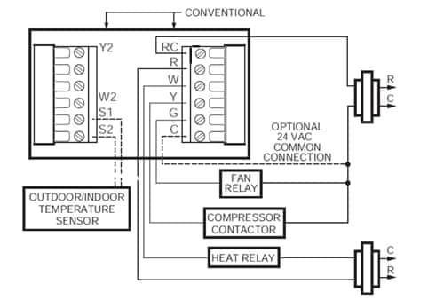 heat only thermostat wiring pump w2 jpg