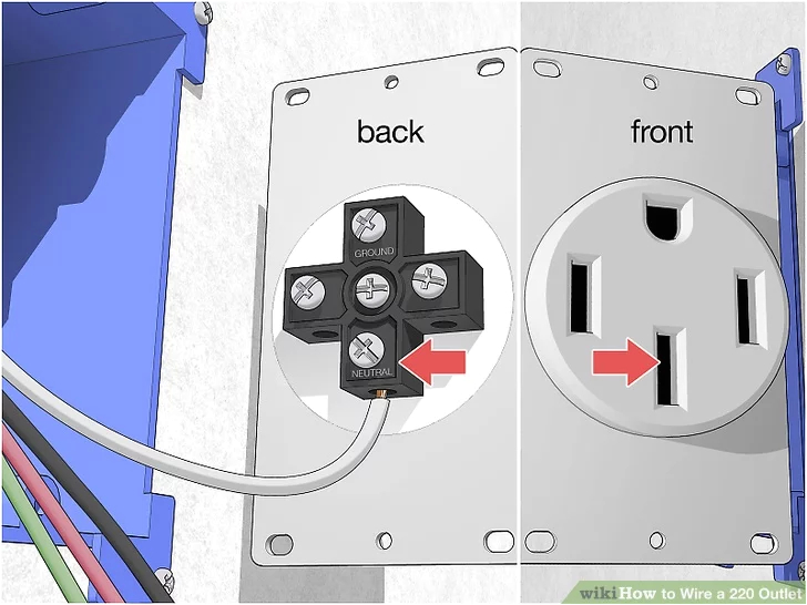 30 Amp Dryer Outlet Wiring Diagram How to Wire A 220 Outlet with Pictures Wikihow