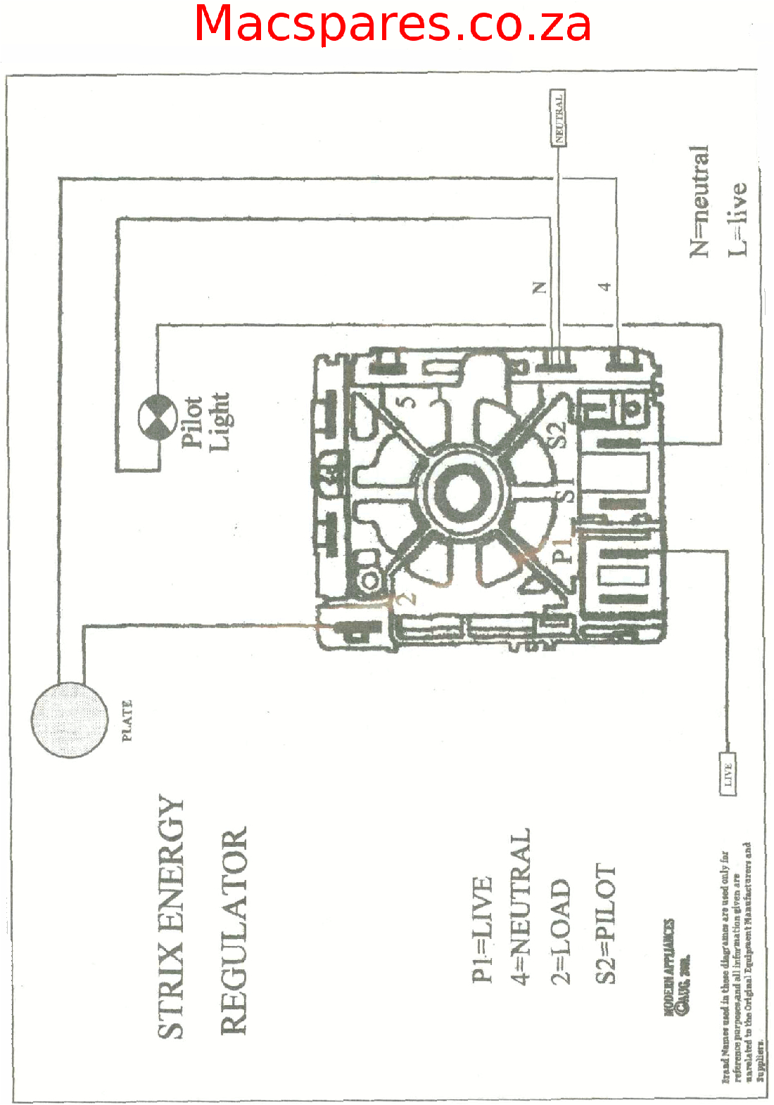4 Plate Stove Wiring Diagram Wiring Diagrams Stoves Switches and thermostats