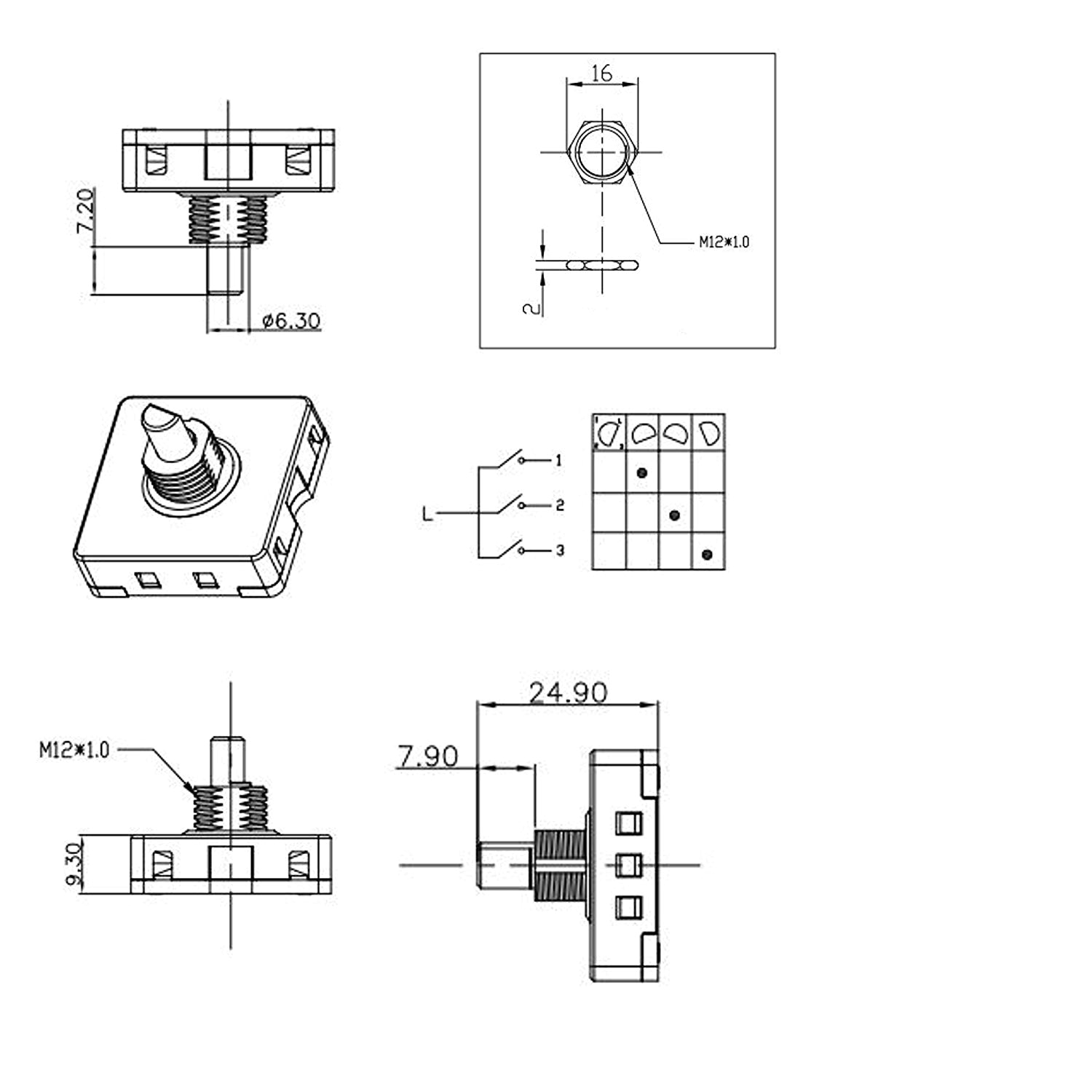 4 Position 3 Speed Fan Selector Rotary Switch Wiring Diagram Zw 6919 2 Position Selector Switch Wiring Diagram Download
