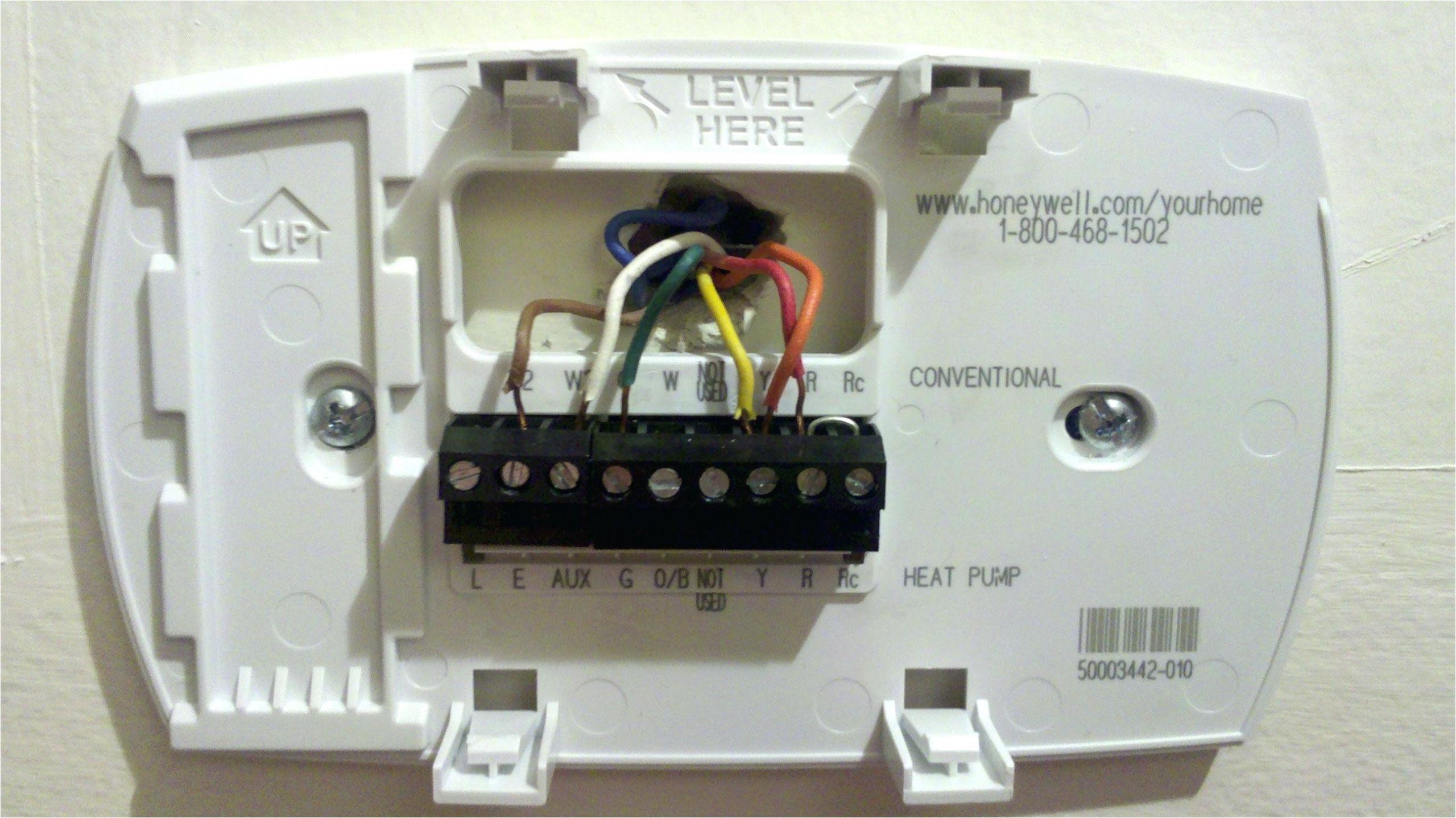 4 Wire Honeywell thermostat Rth111b Wiring Diagram Hv 2262 Heat Pump thermostat Wiring Diagrams Rthl3550