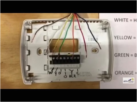 4 Wire Honeywell thermostat Rth111b Wiring Diagram thermostat Wiring