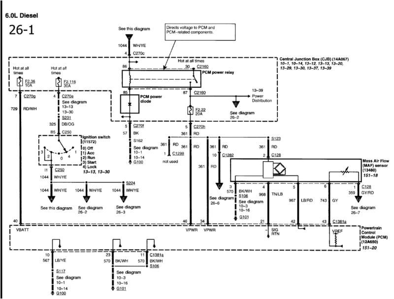 6.0 Powerstroke Fuel Pump Wiring Diagram Wiring Diagram for Fuel Pump Circuit ford Truck