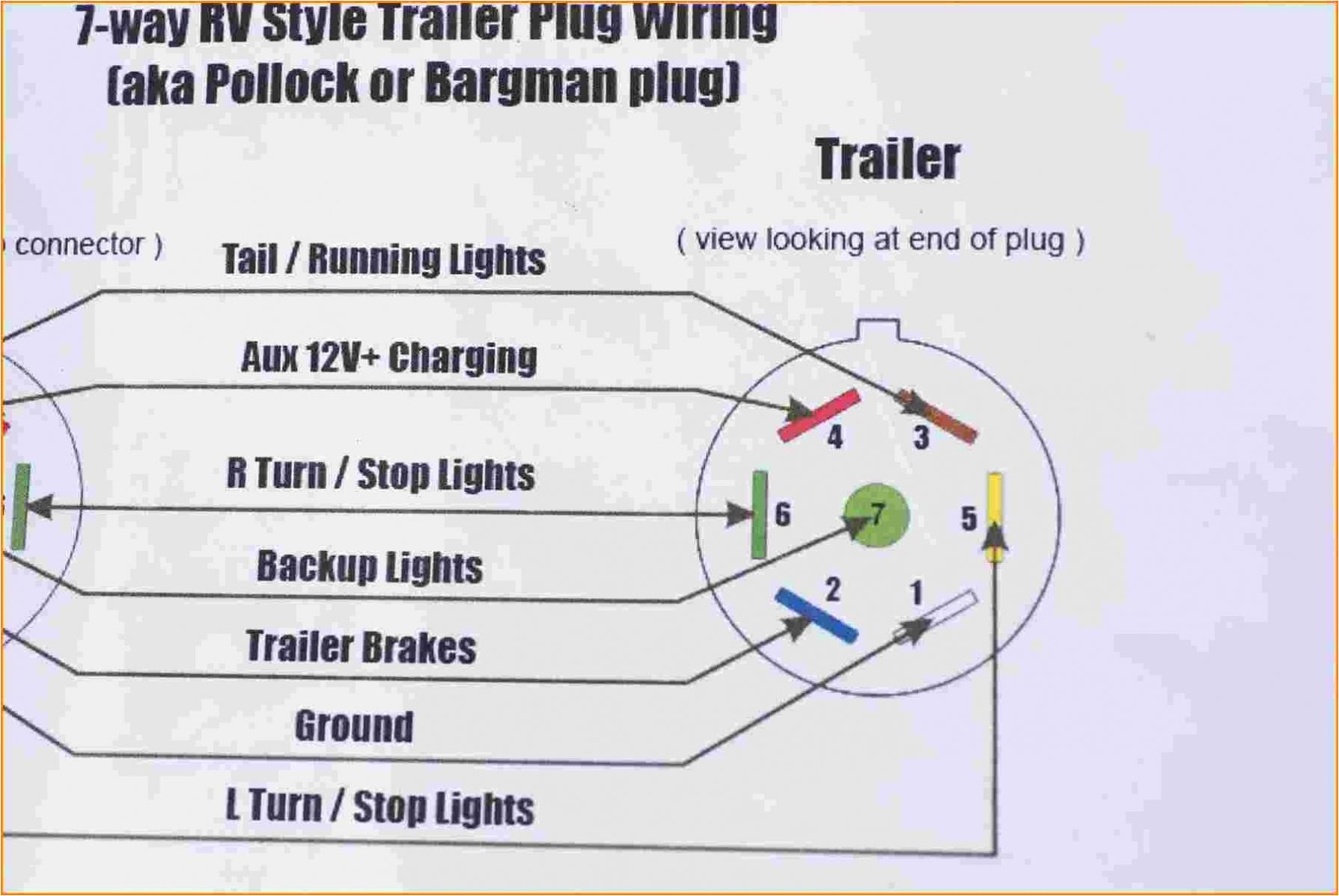 7 Wire Rv Trailer Wiring Diagram 7 Wire Trailer Plug Wiring Diagram Untpikapps