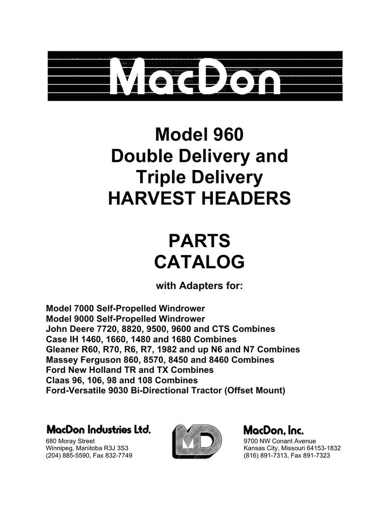 9600 John Deere Combine Wiring Diagram 960 Harvest Header Adaptor Manualzz