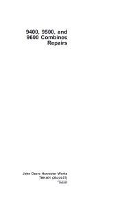 9600 John Deere Combine Wiring Diagram John Deere Factory Workshop Service Manuals