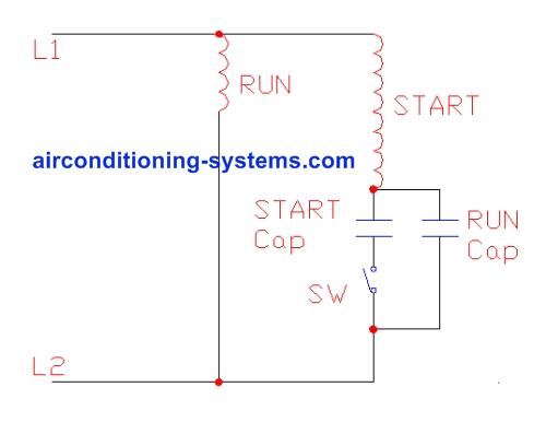 capacitor start capacitor run motor schematic jpg