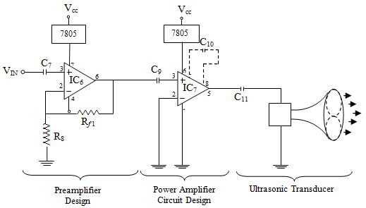booster preamplifier amplifier and ultrasonic transducer design in one of the five png