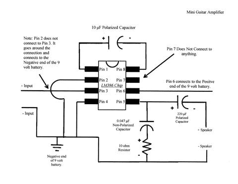 Amp and Capacitor Wiring Diagram Mini Guitar Amp Schematic Photo by A Dim Wit Photobucket