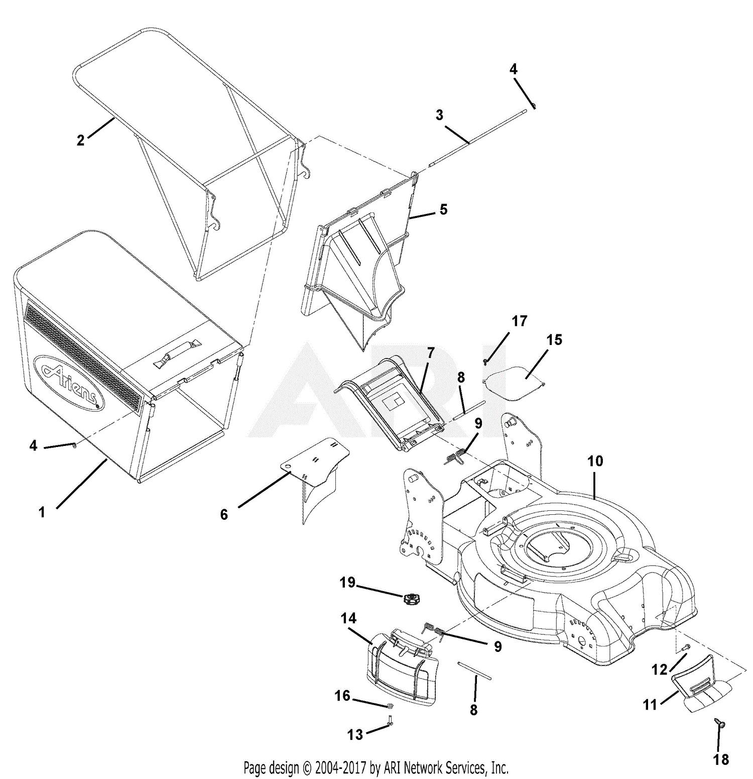 Ariens Riding Mower Wiring Diagram Ariens 911113 002000 Desp21 5 5hp Honda Gcv 160