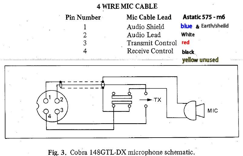 Astatic 636l 4 Pin Wiring Diagram at 0745 Wiring Diagram Cobra 148 Mic Wiring On Typical