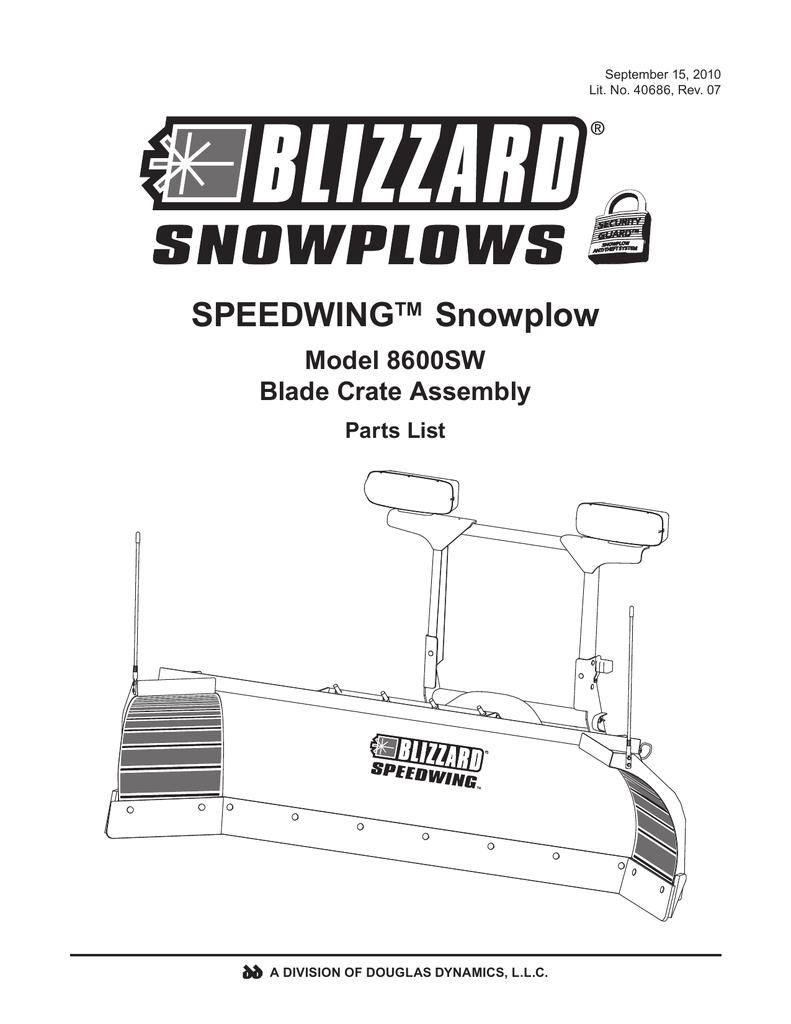 Blizzard Power Plow Wiring Diagram Blizzard Parts List Speedwing Snowplow Plow Side Blade and